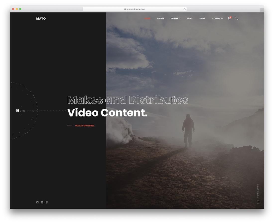 mato videographer website template
