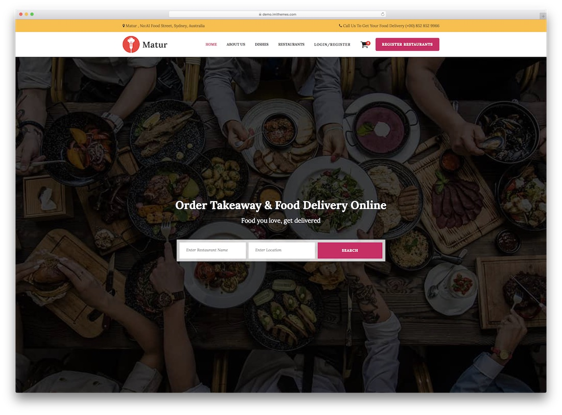 matur catering wordpress theme