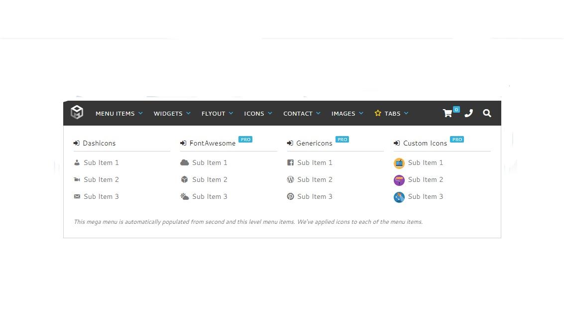Organized WordPress Dropdown Menu Plugin