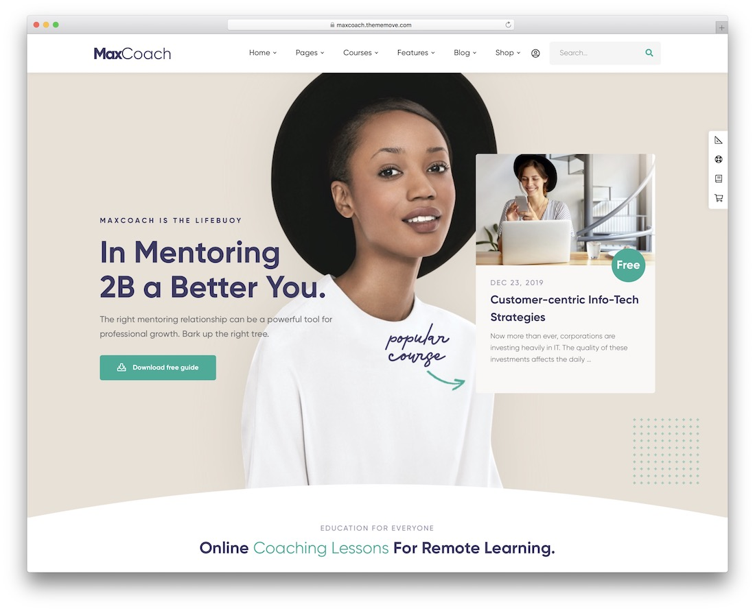maxcoach education wordpress theme