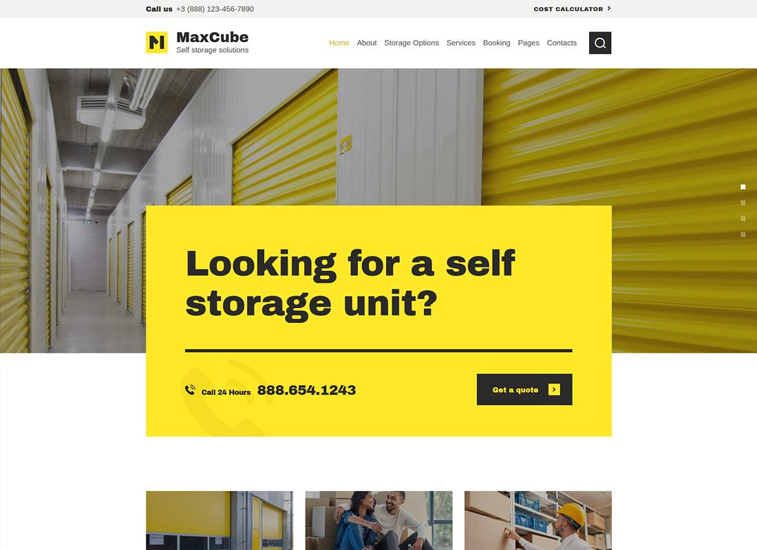 MaxCube - Self Storage Business WordPress Theme