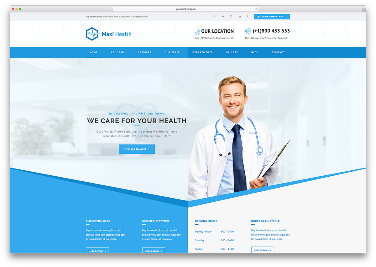 Maxihealth fast loading html5 websote template