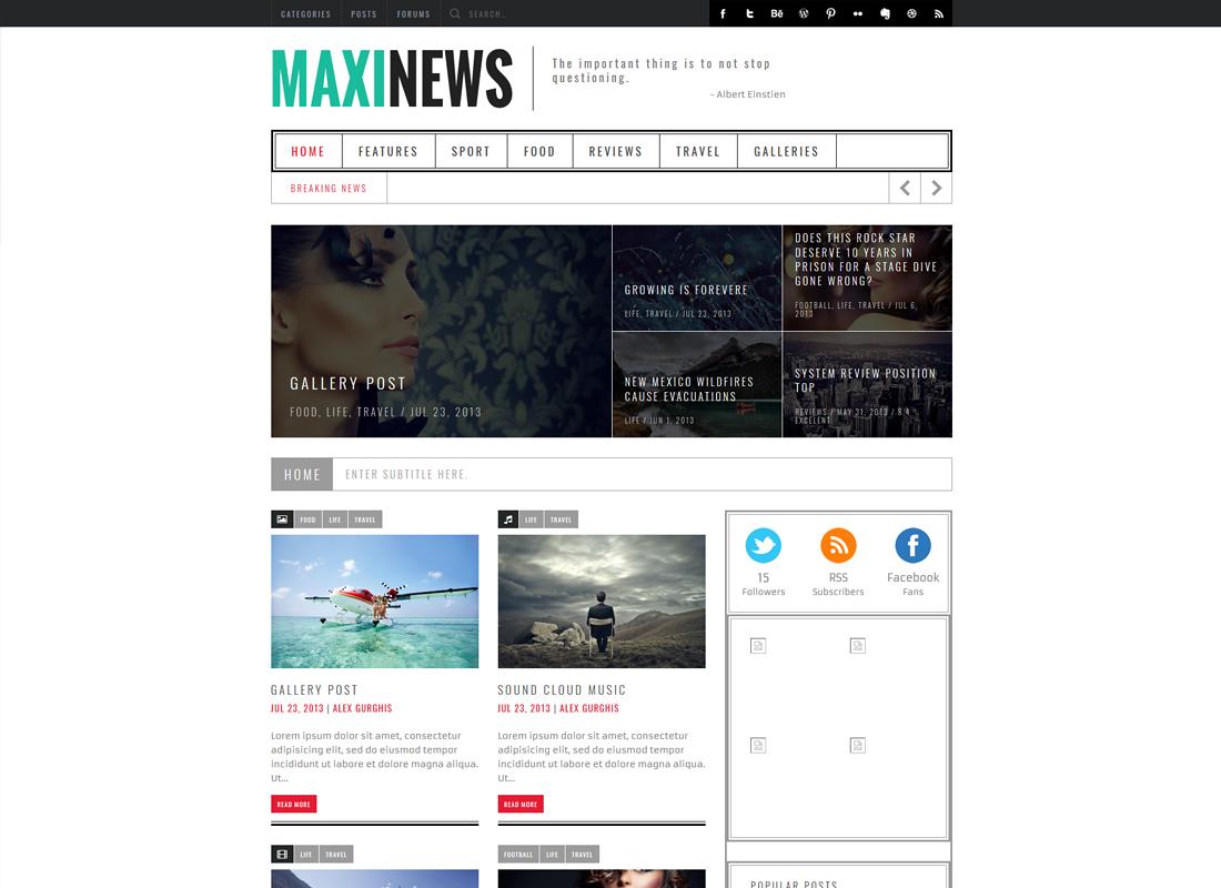 MaxiNews | Premium Review Magazine WordPress Theme