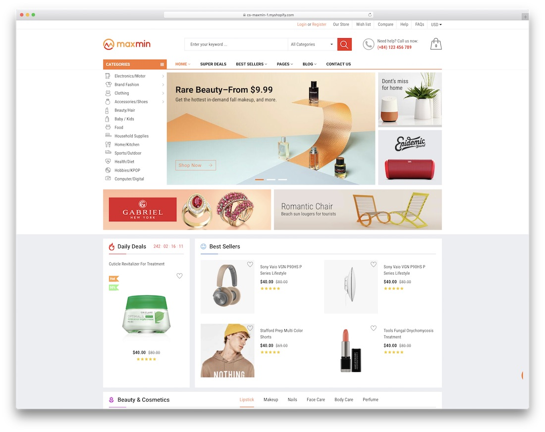 maxmin best shopify theme
