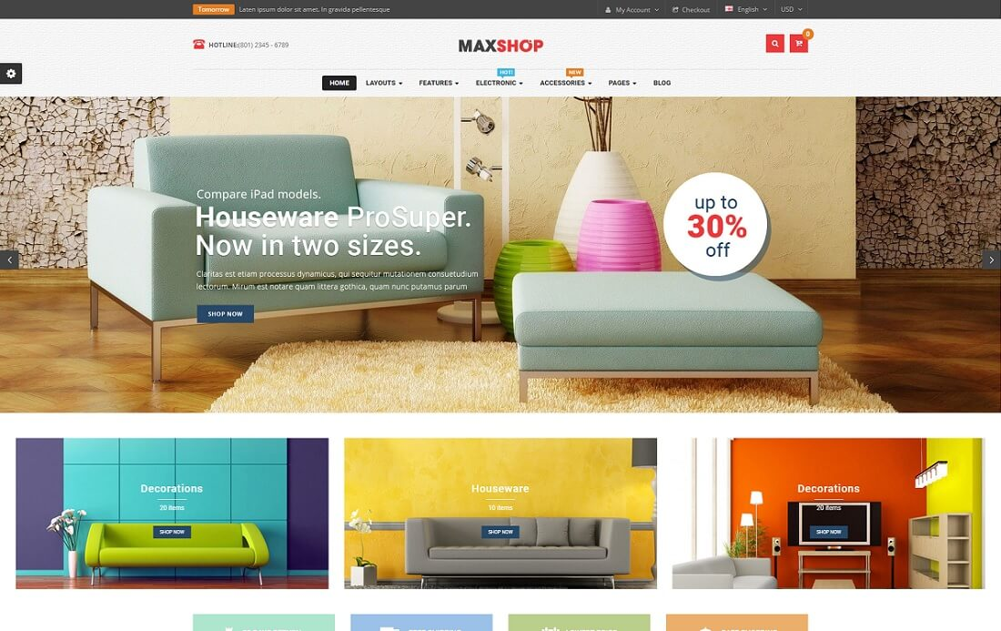 maxshop opencart theme