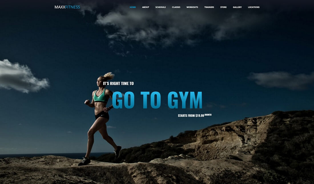 maxx fitness ecwid compatible theme