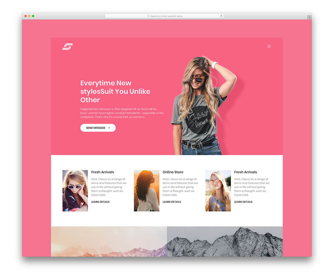 9ea97aafe1cd This is a responsive website template is primarily a personal website  template. But the overall design layout makes Maze a perfect choice for  photography ...