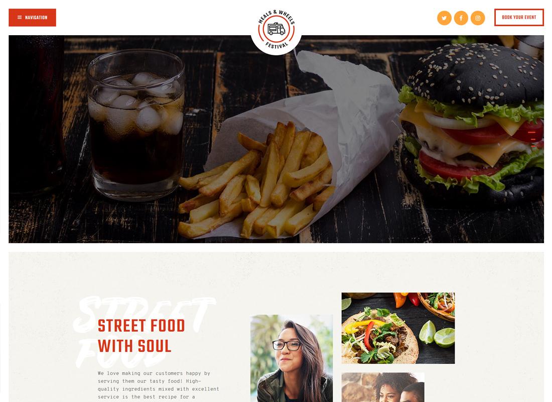Meals & Wheels - Street Food Festival & Fast Food Delivery WordPress Theme