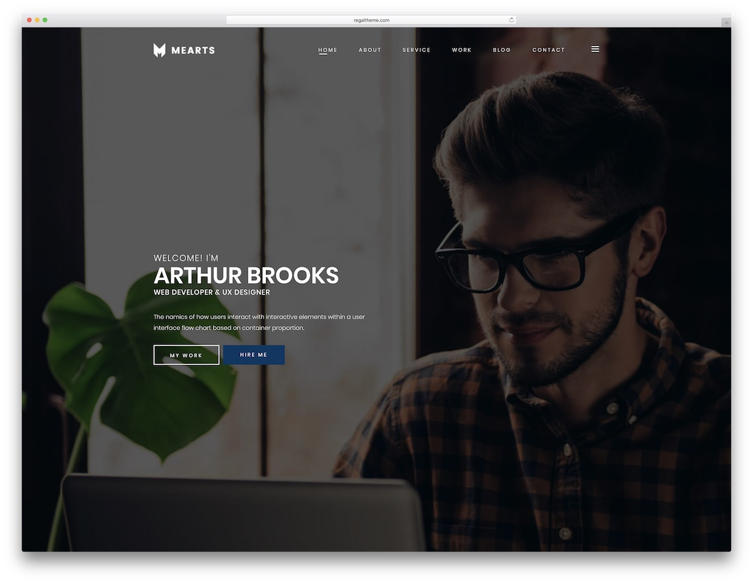 mearts bootstrap website template