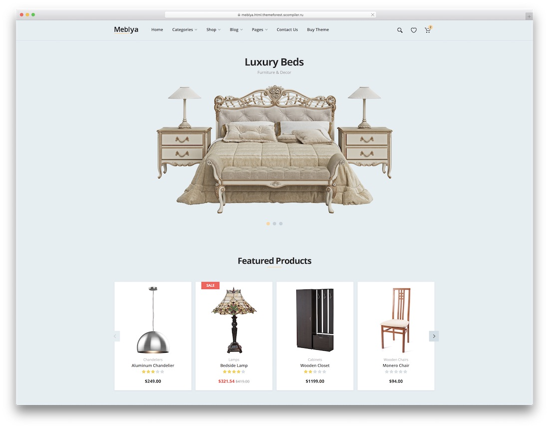 meblya ecommerce website template