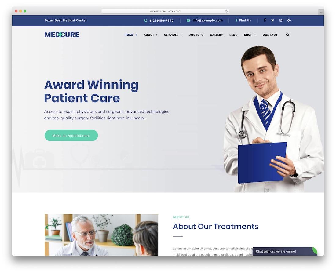 medcure wordpress theme