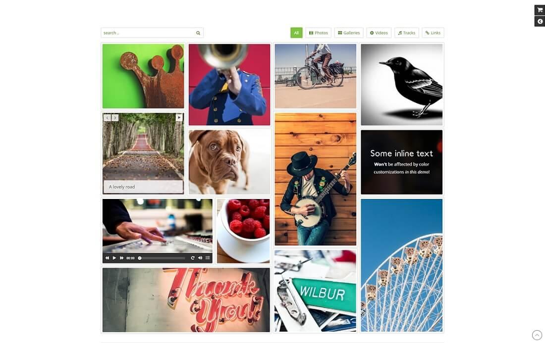 media grid responsive wp gallery plugin