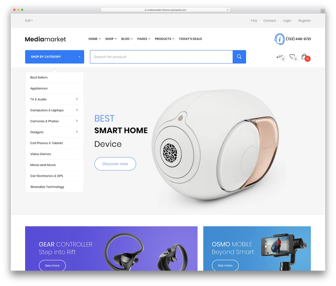mediamarket shopify technology theme