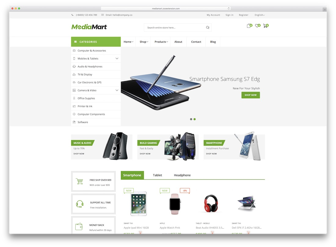mediamart magento technology theme