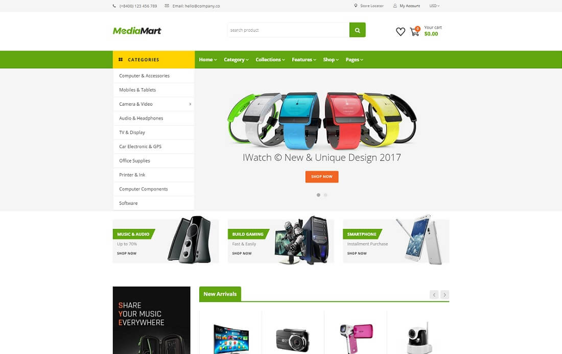 mediamart world shopify technology theme