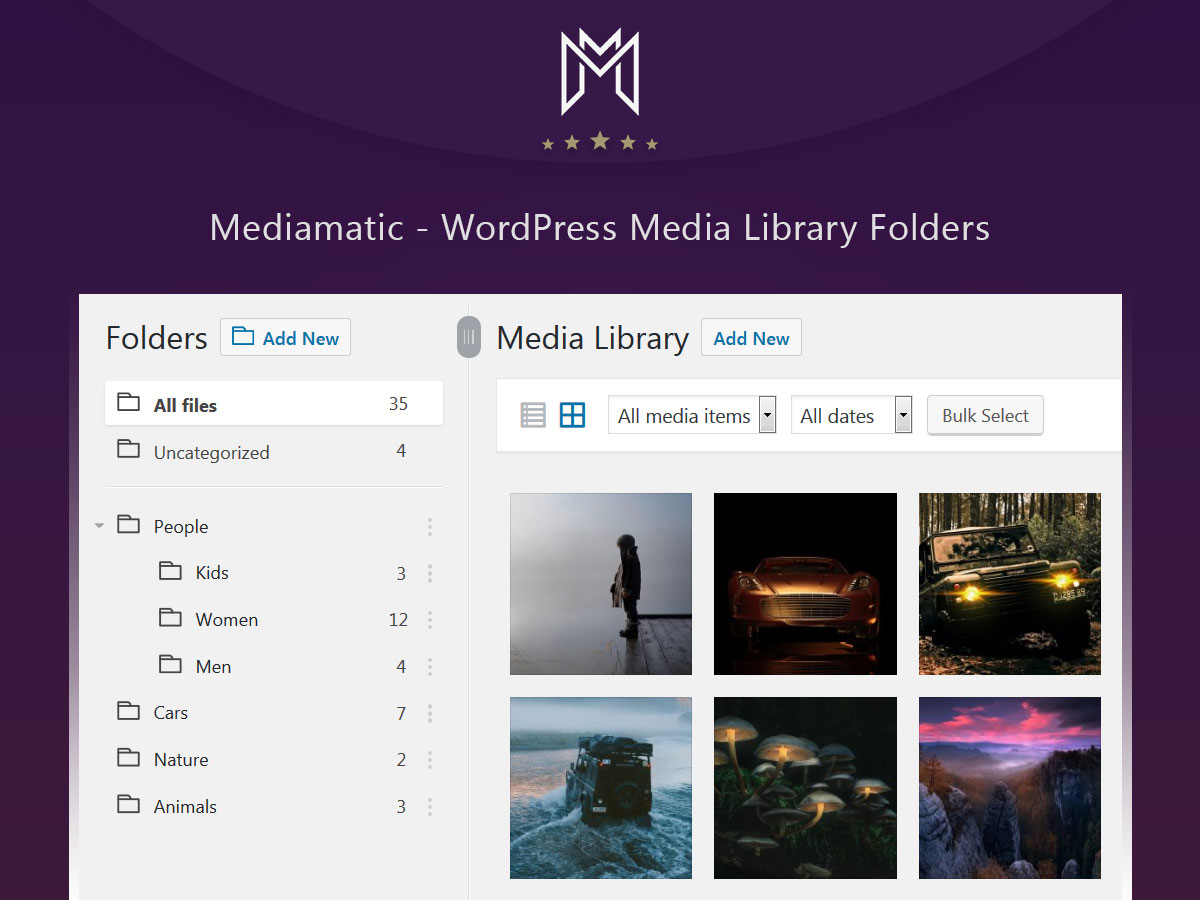 mediamatic wordpress media library folders