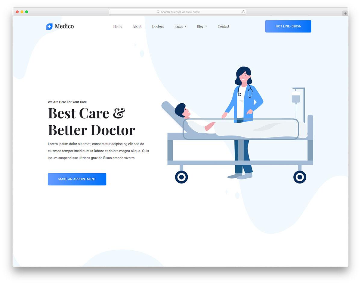 30 Free Medical Website Templates 2019 - Colorlib