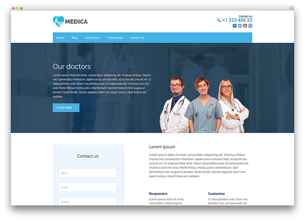 medica Health WordPress theme