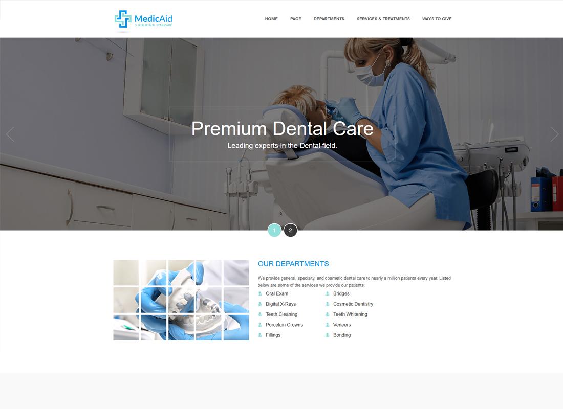 MedicAid   Dentist & Medical- Multipurpose WordPress theme RTL