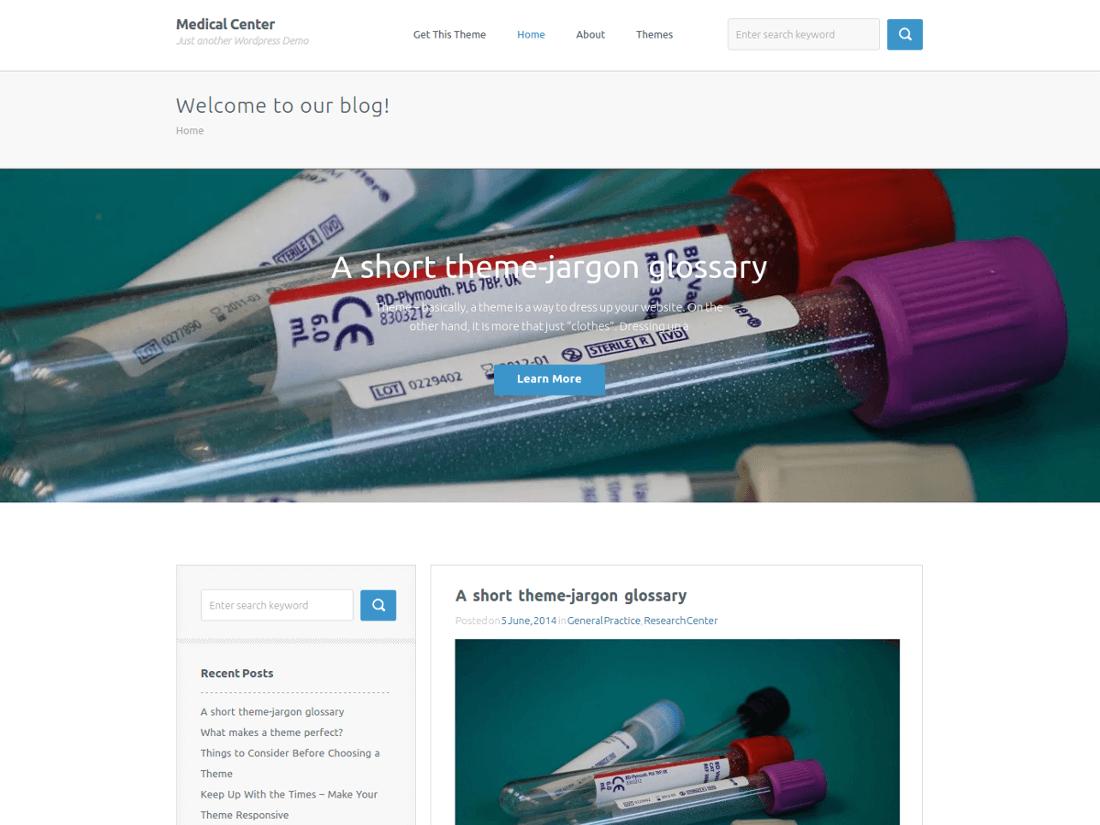 Medical Center Medical WordPress Theme