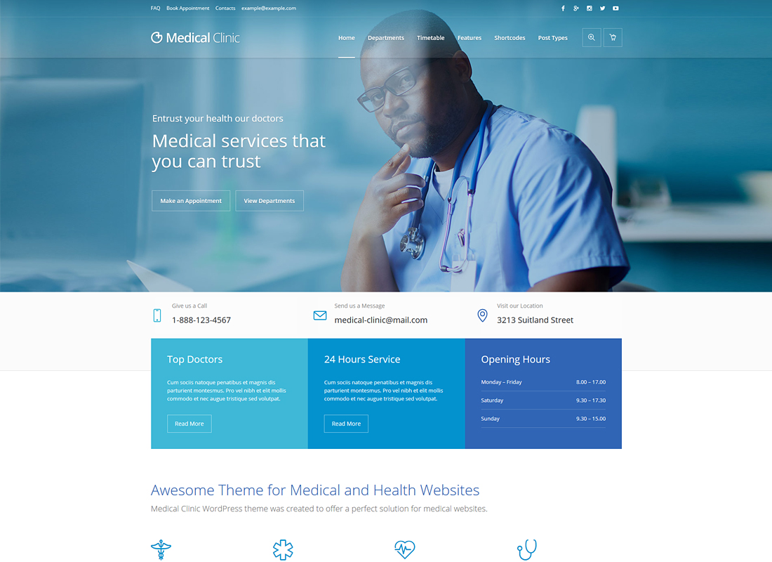 Medical Clinic | Health & Doctor Medical WordPress Theme