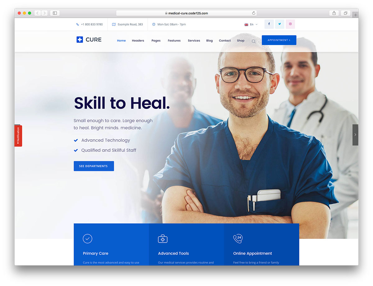 wordpress template for health  30  Best Health and Medical WordPress Themes 2018 - colorlib