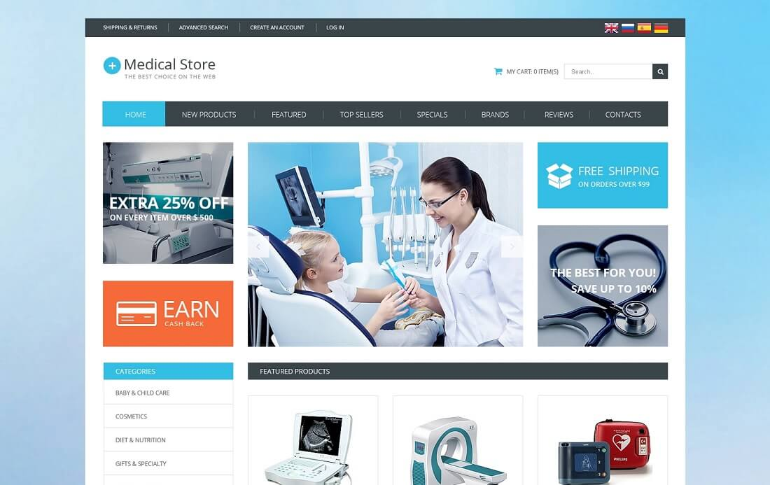 medical-equipment oscommerce template