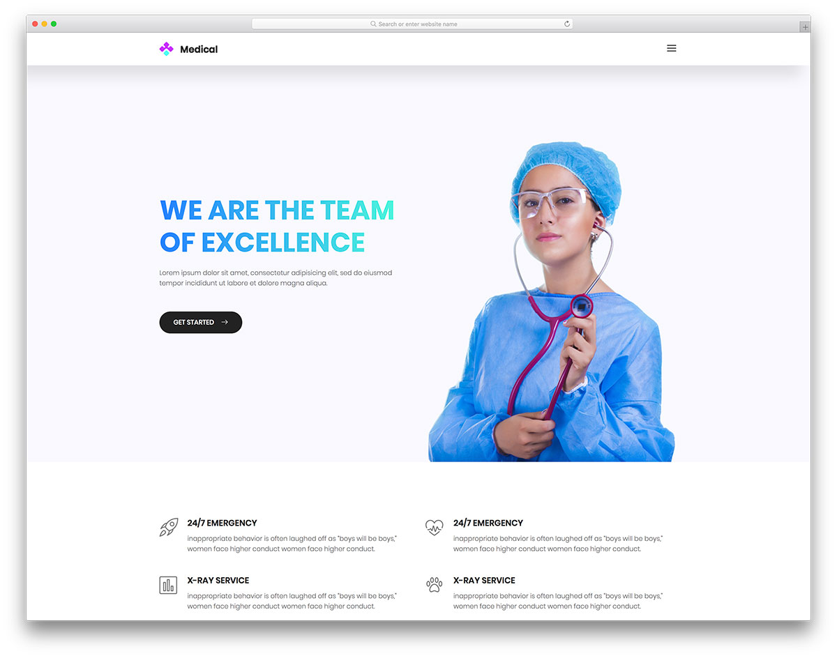 medical free mobile-friendly website template