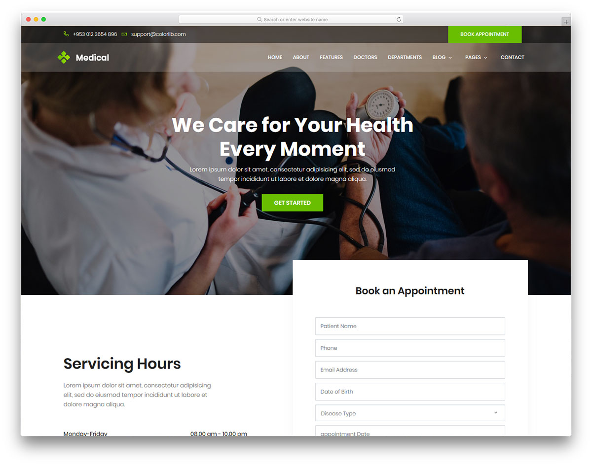 medilife free responsive medical website template colorlib