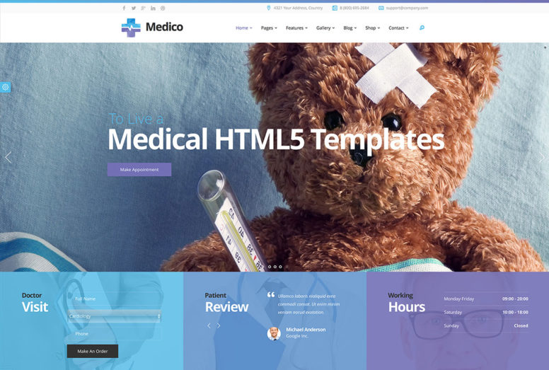 22 Best HTML5 Health And Medical Website Templates For Clinics, Doctors, Dentists And More 2018