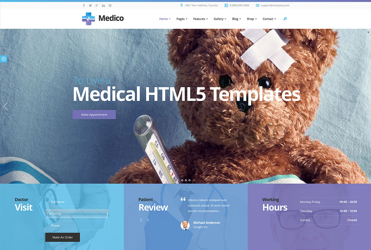 22 Best HTML5 Medical Website Templates 2018 - Colorlib