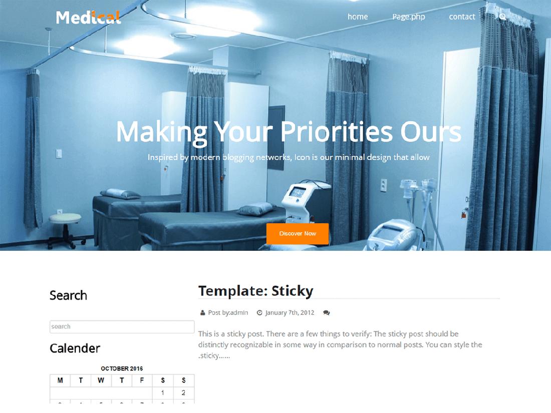Medical Life Medical WordPress Theme