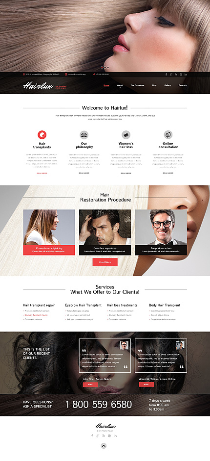 Hair Transplantation WordPress Theme