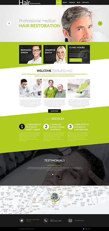 Hair Transplant Clinic WordPress Theme
