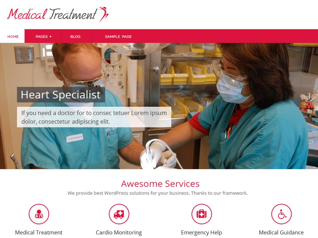 Medical Treatment Medical WordPress Theme