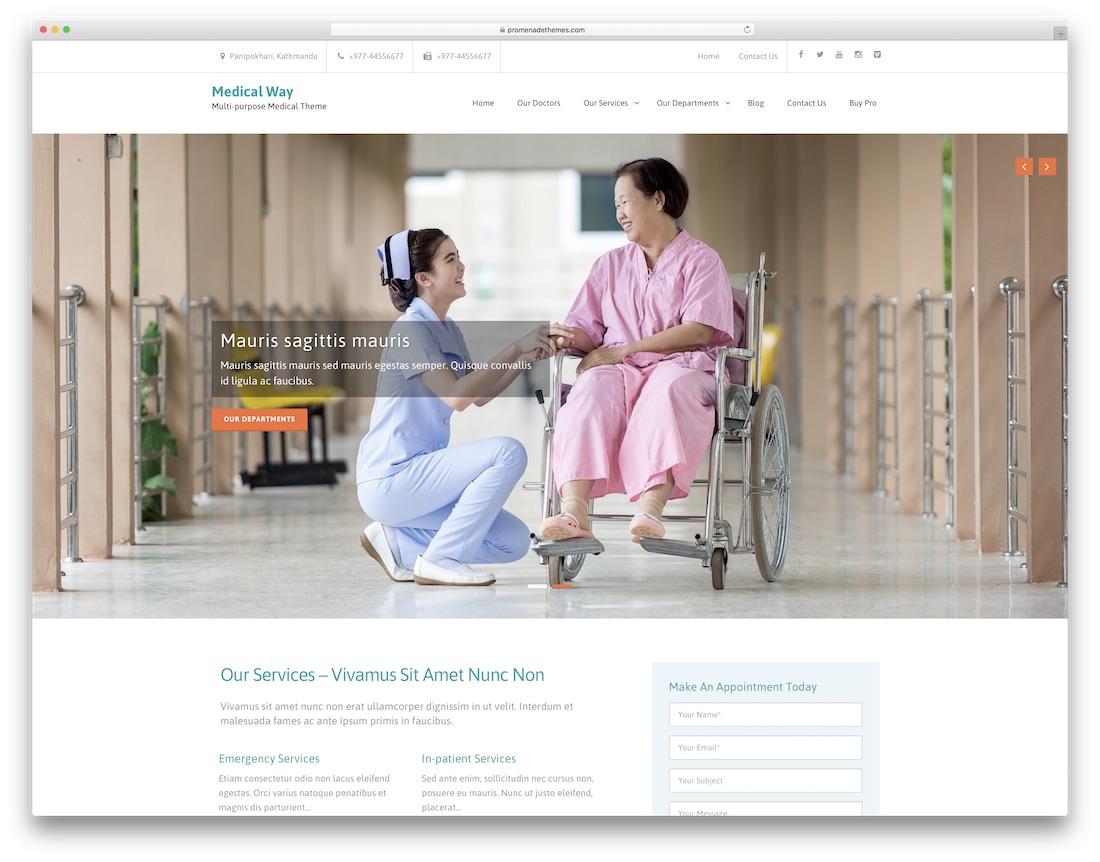 medical way free website template