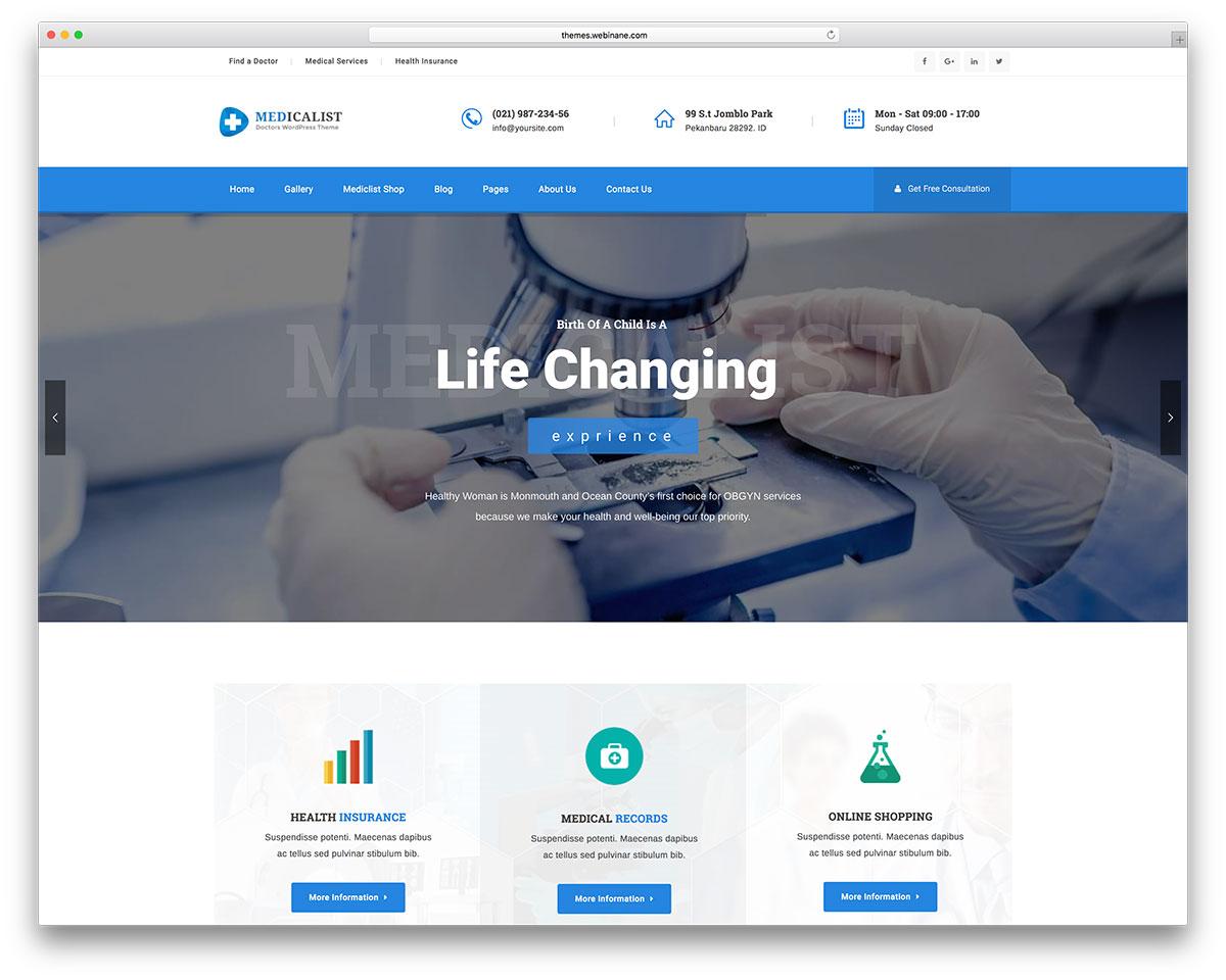 40+ Best Health and Medical WordPress Themes 2019 - colorlib