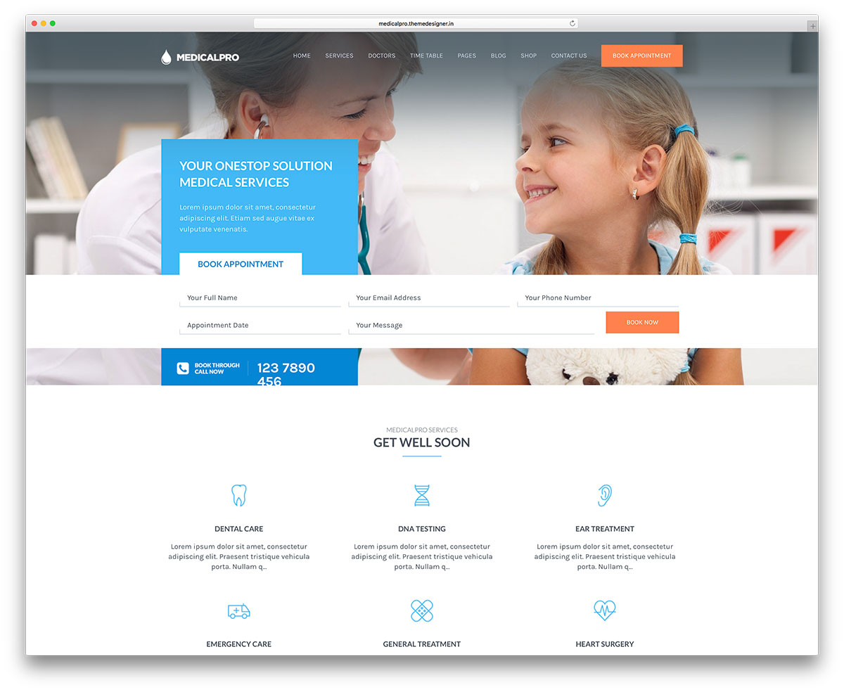 health template wordpress  30+ Best Health and Medical WordPress Themes 2018 - colorlib