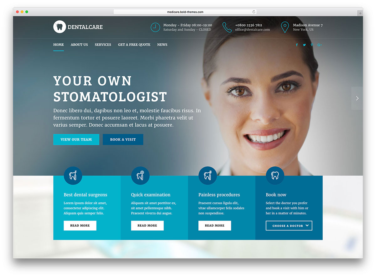 WordPress Dental theme