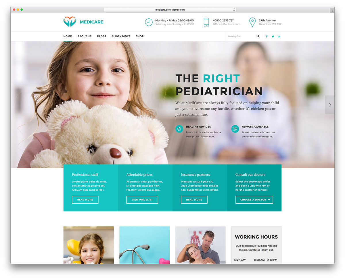 Best WordPress medical themes