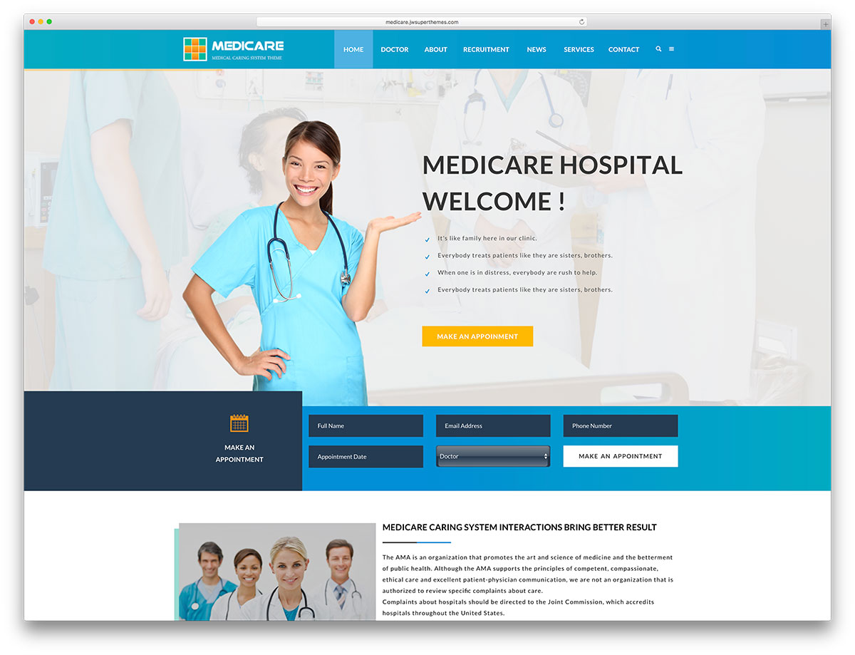 20+ best health and medical wordpress themes 2017 - colorlib, Skeleton