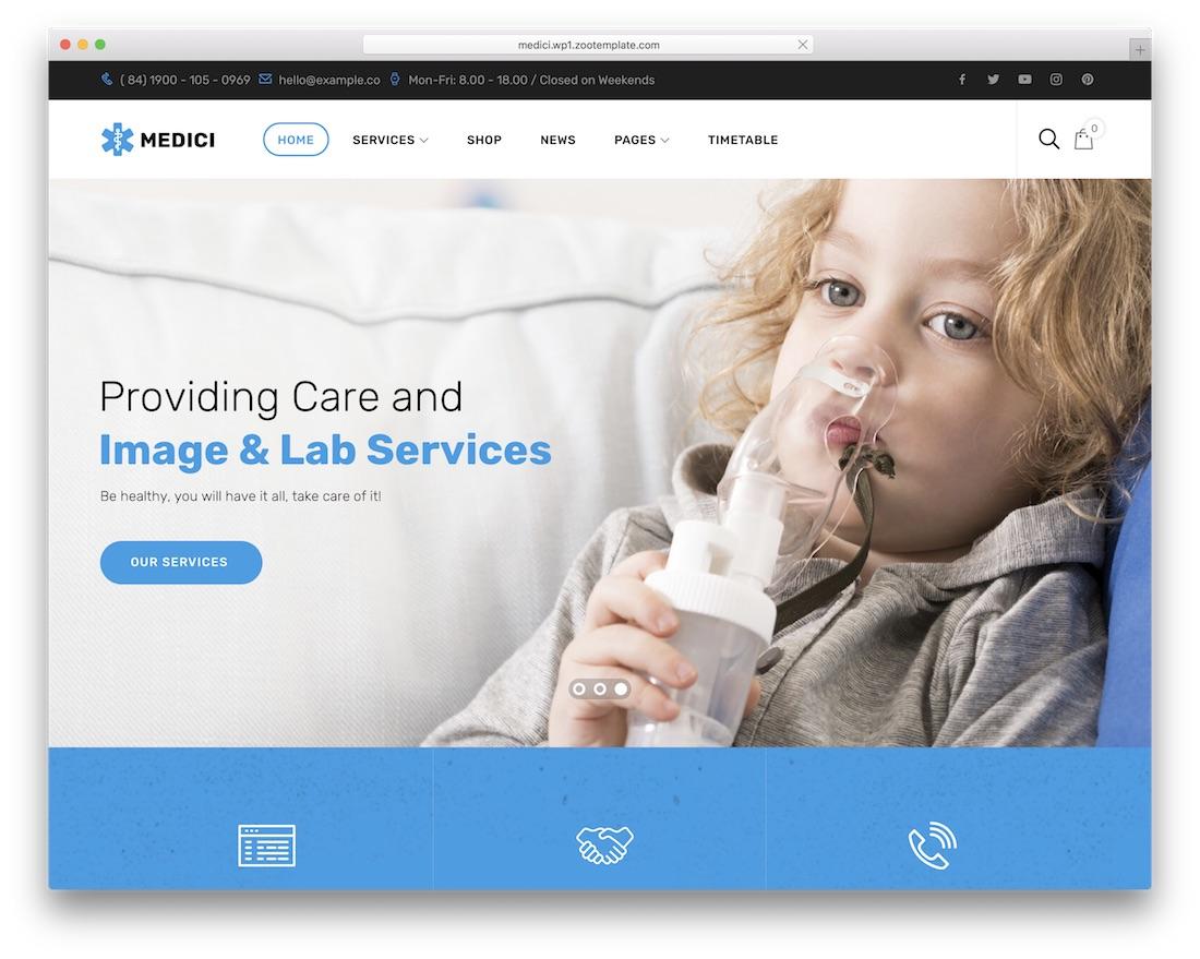 medici health medical wordpress theme