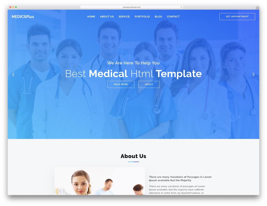 medicplus cheap website template