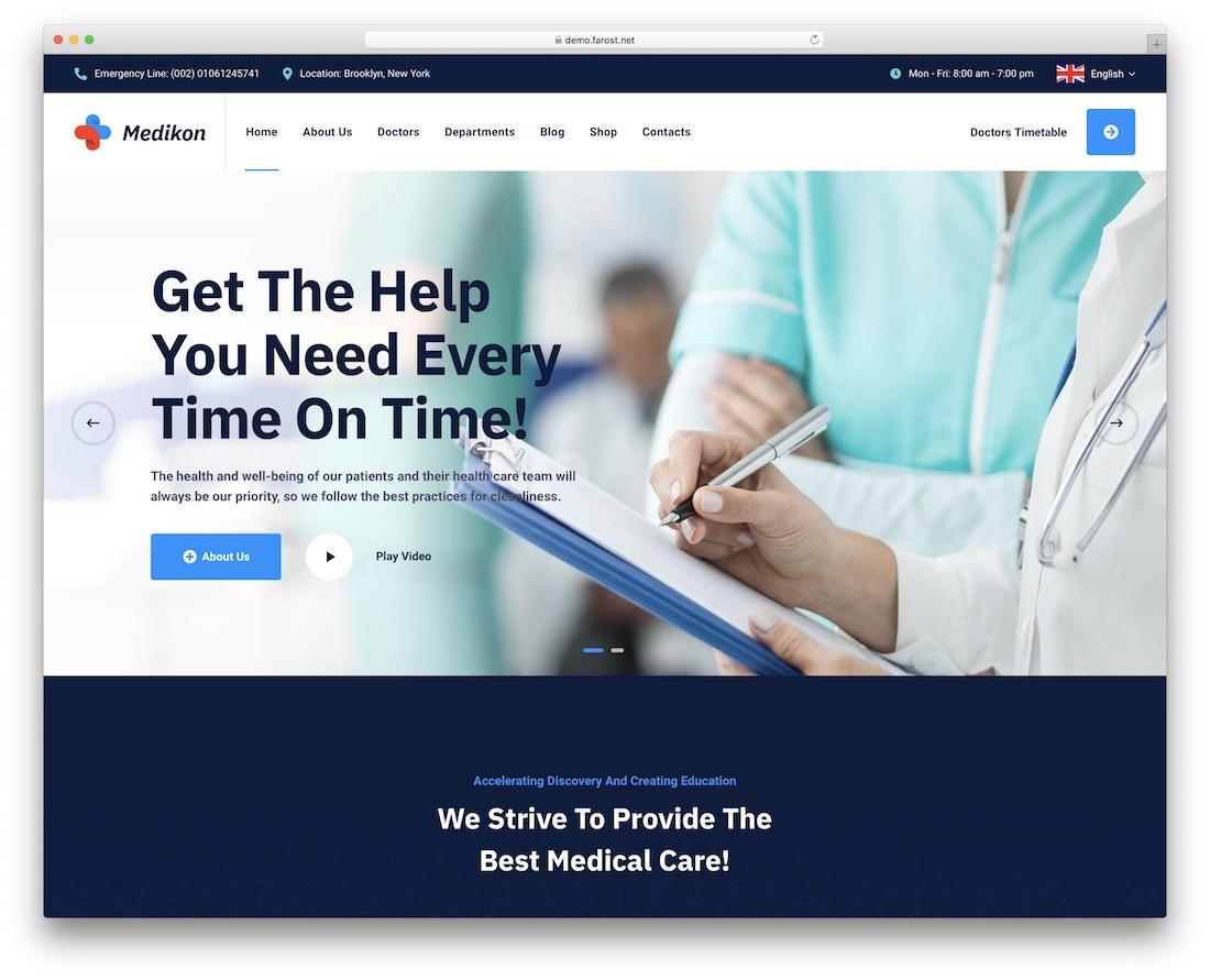 medikon doctor wordpress theme