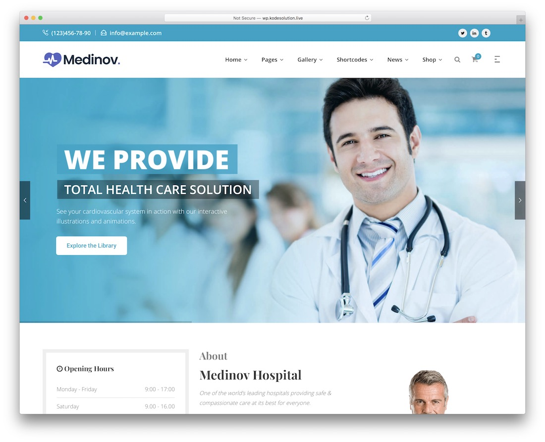 medinov medical website template