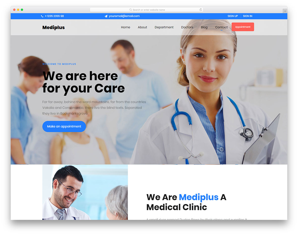 Mediplus Free Template