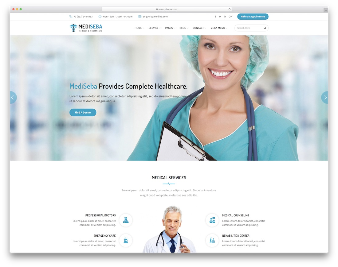 mediseba doctor website template