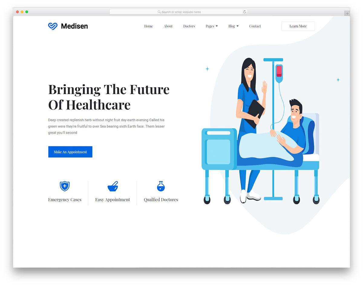 Скачать бесплатно html шаблон Medisen