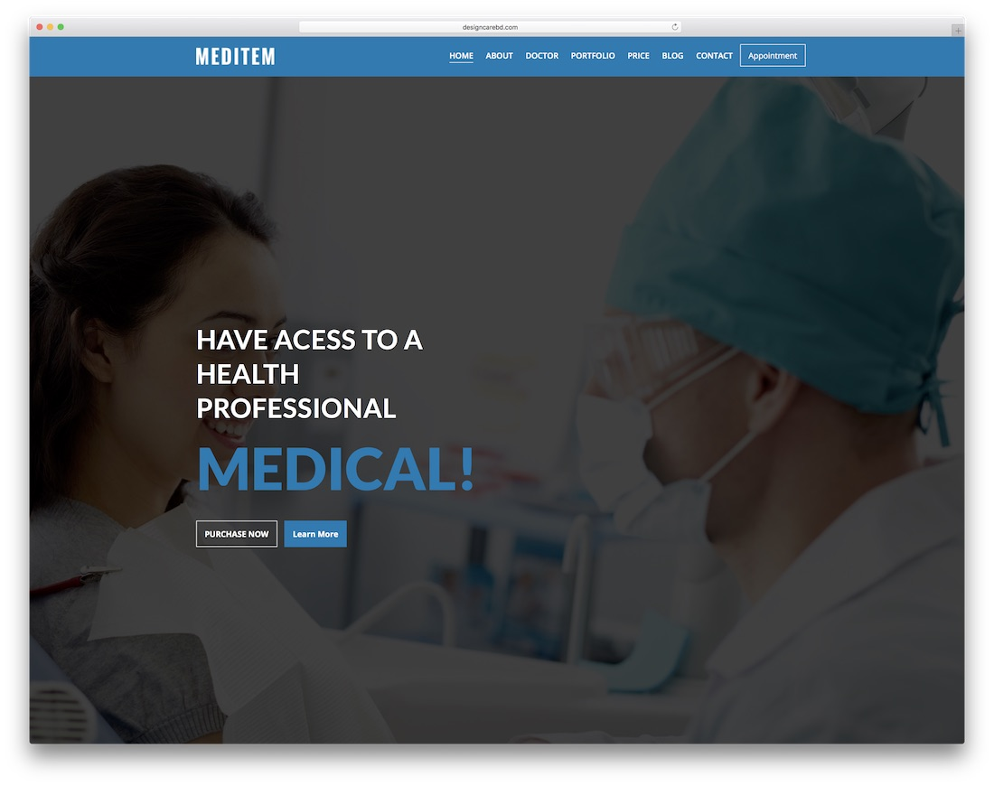meditem doctor website template