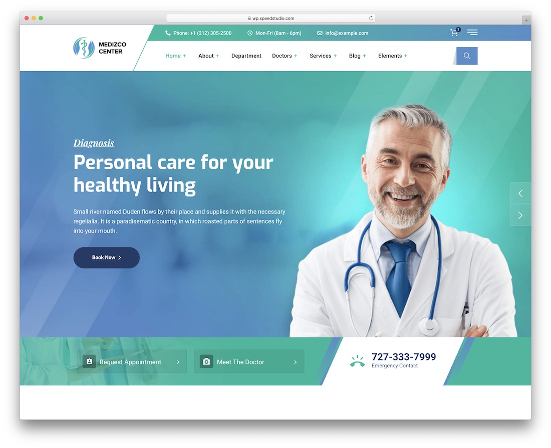 medizco doctor wordpress theme